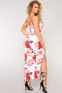 You'll Come Back Floral Dress - Ivory