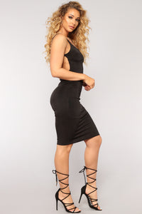 Stuck On You Dress - Black