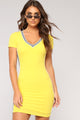 First String Athletic Dress - Yellow