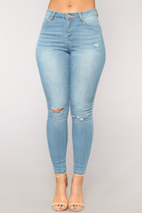 Phoebe Super Soft Skinny Jeans - Light Blue Wash