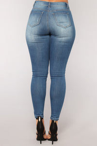 Phoebe Super Soft Skinny Jeans - Medium Blue Wash