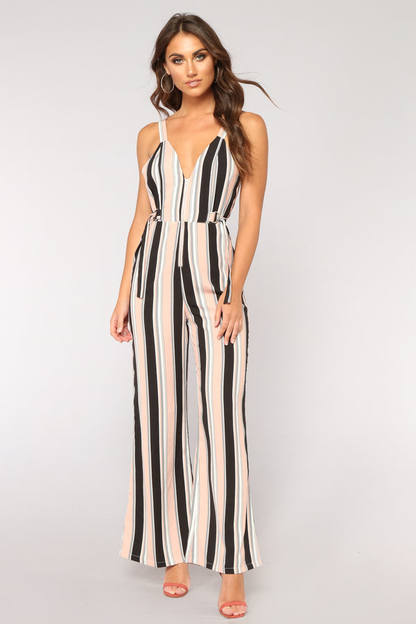 70a284cd0e3 Be Humble Stripe Jumpsuit - Pink