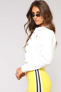 Sweet Escape Cropped Jacket - White