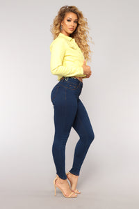 Back It Up Booty Lifting Jeans - Dark Denim