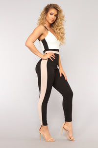 It's Real Love Jumpsuit - Black