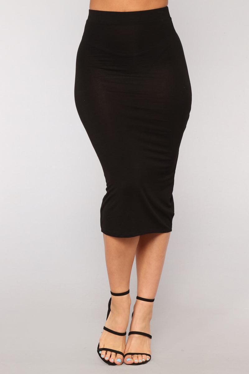 No Manners Skirt Set - Black