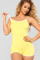 Go The Extra Mile Active Romper - Yellow