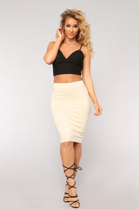Live Your Life Skirt - Khaki