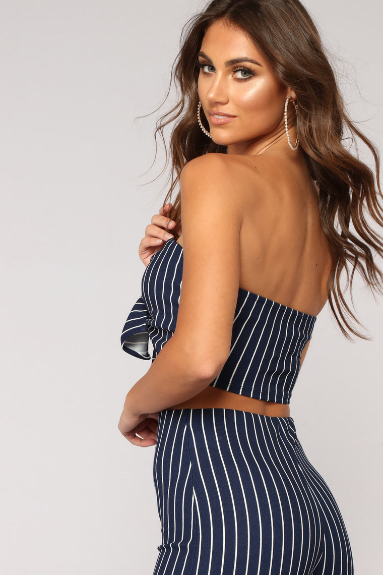 Road Less Traveled Striped Set - Navy