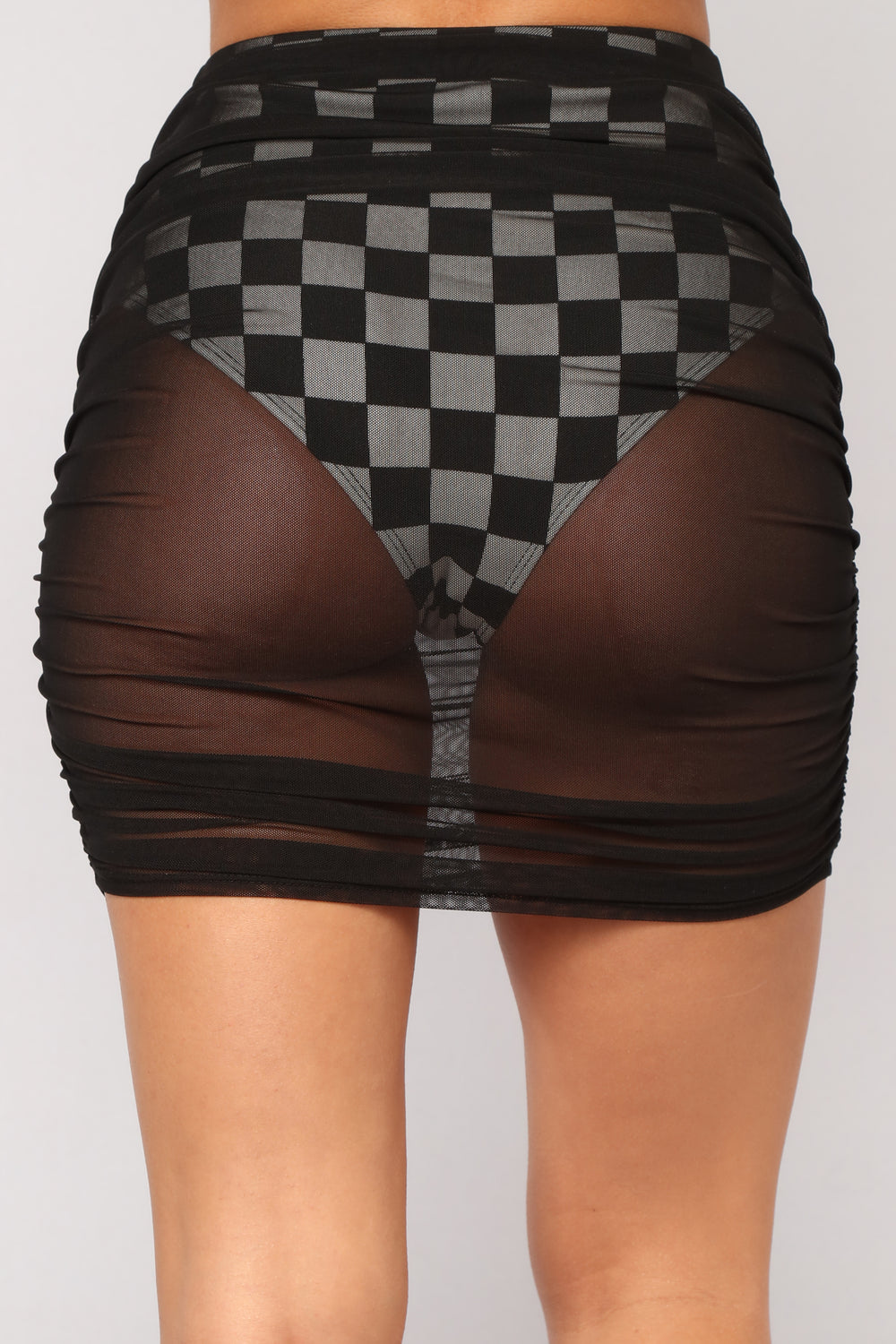 Win The Race Checkered Set - Black/White