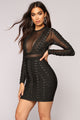Down With The Clique Bandage Dress - Black