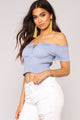Stealing Looks Smocked Top - Blue