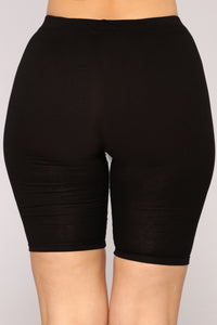Basic Layer Biker Shorts - Black