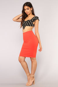 Live Your Life Skirt - Red