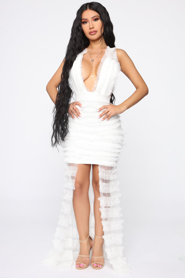 68ca386ec Display Of Affection Mesh Dress - OffWhite