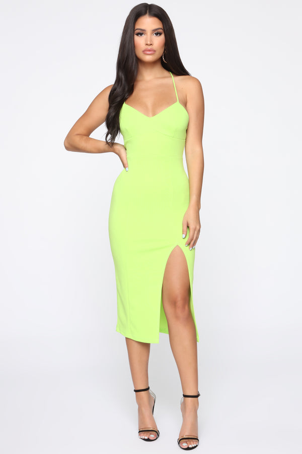 253968efecf My First Thought Midi Dress - Lime