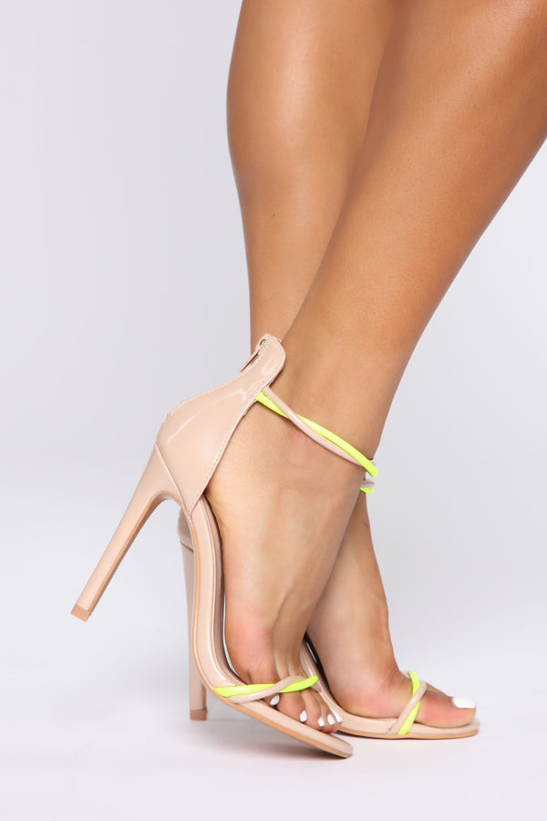 fbd66235f47a So Fierce Heeled Sandal - Nude Neon