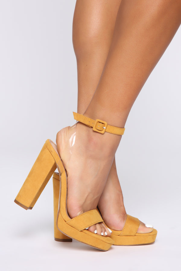 64e7b4d55a5f5 Day And Night Heeled Sandals - Mustard