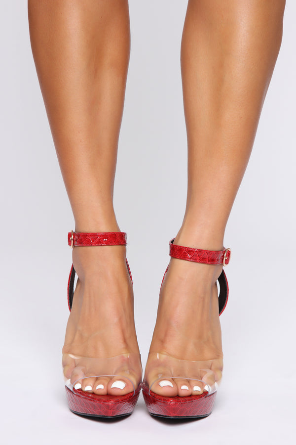 6f68dab1576 Love You Forever Heeled Sandals - Red