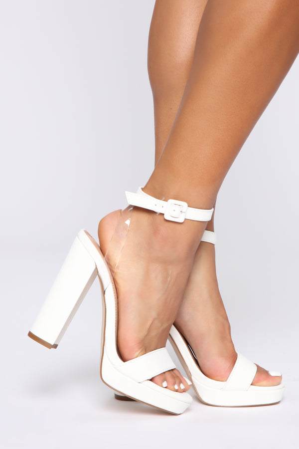 62cc506ab7a1 Day And Night Heeled Sandals - White