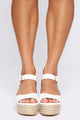 No Judging Here Wedges - White