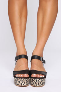 No Judging Here Wedges - Black Angle 2