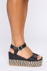 No Judging Here Wedges - Black Angle 3