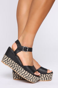 No Judging Here Wedges - Black Angle 1