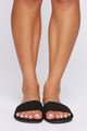 Sweet And Simple Flat Sandals - Black