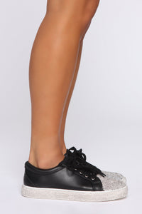 Glitz On Sneakers - Black Angle 3