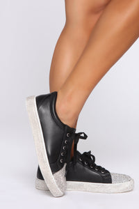 Glitz On Sneakers - Black Angle 1