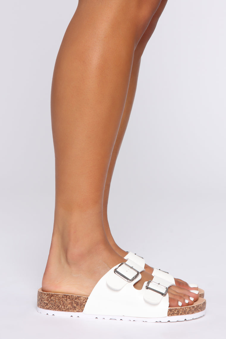 In The Meantime Flat Sandal - White