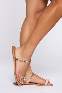 That Bling Flat Sandal - Rose Gold