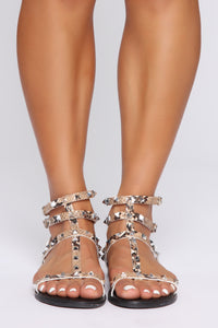 Raelynn Studded Sandals - Snake