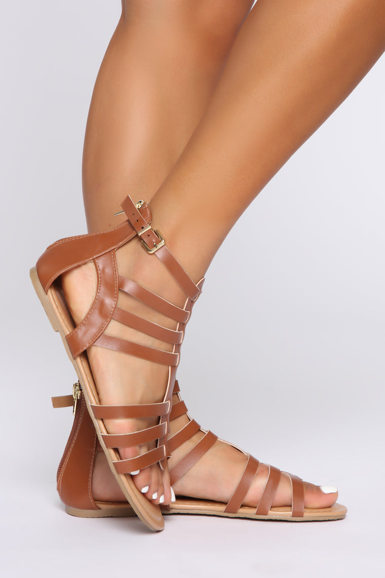 Who Said What Flat Sandals - Cognac