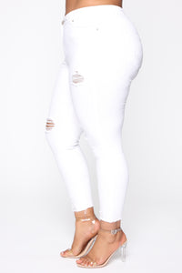Like A Dream Skinny Jeans - White