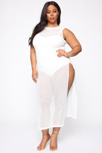 On A Silver Platter Sheer Maxi Dress - White Angle 1