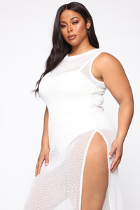 On A Silver Platter Sheer Maxi Dress - White Angle 2