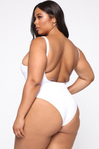 Endless Love Waves Swimsuit - White