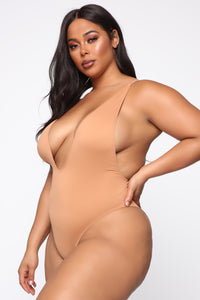 Tie Me Up One Piece Swimsuit - Nude Angle 2