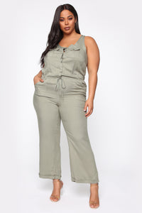 Just Lovely Jumpsuit - Olive