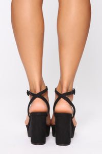 Restrictions Free Heeled Sandals - Black