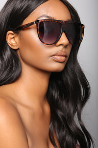 Vienna Oversized Sunglasses - Tortoise/Brown