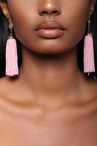 Sandra Tassel Earrings - Pink