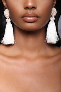 Vivianna Tassel Earrings - Ivory