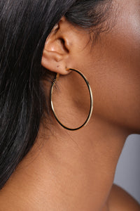 Twist And Turn Hoop Earring Set - Gold