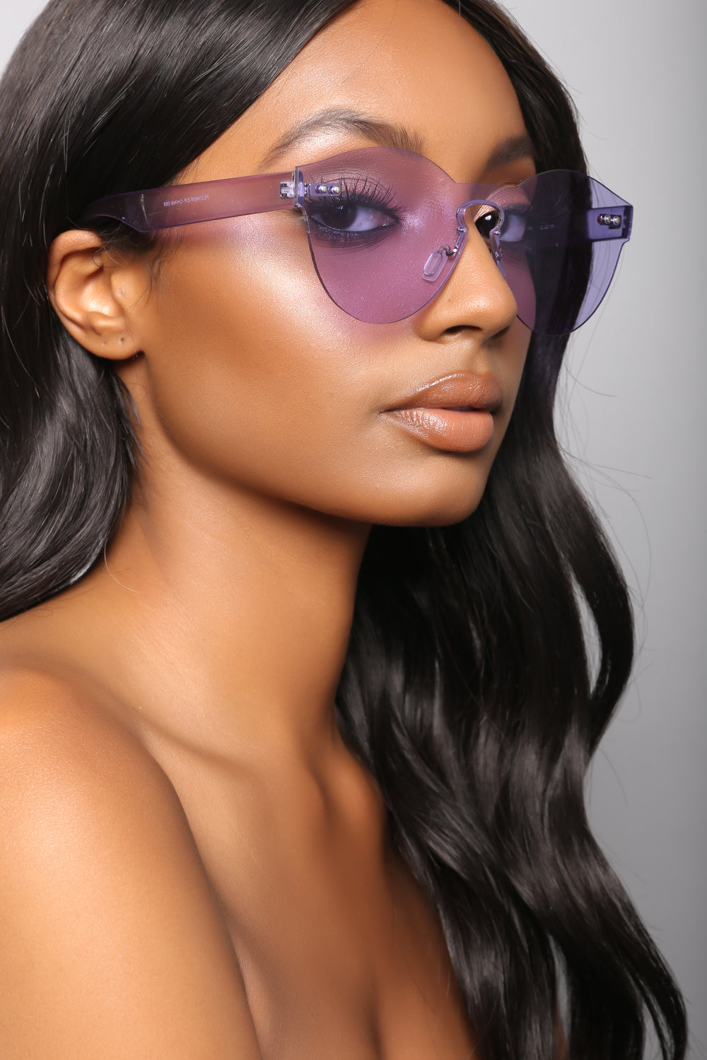 Just One Time Sunglasses - Purple