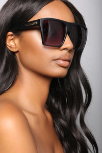 Squared In Sunglasses - Matte Black