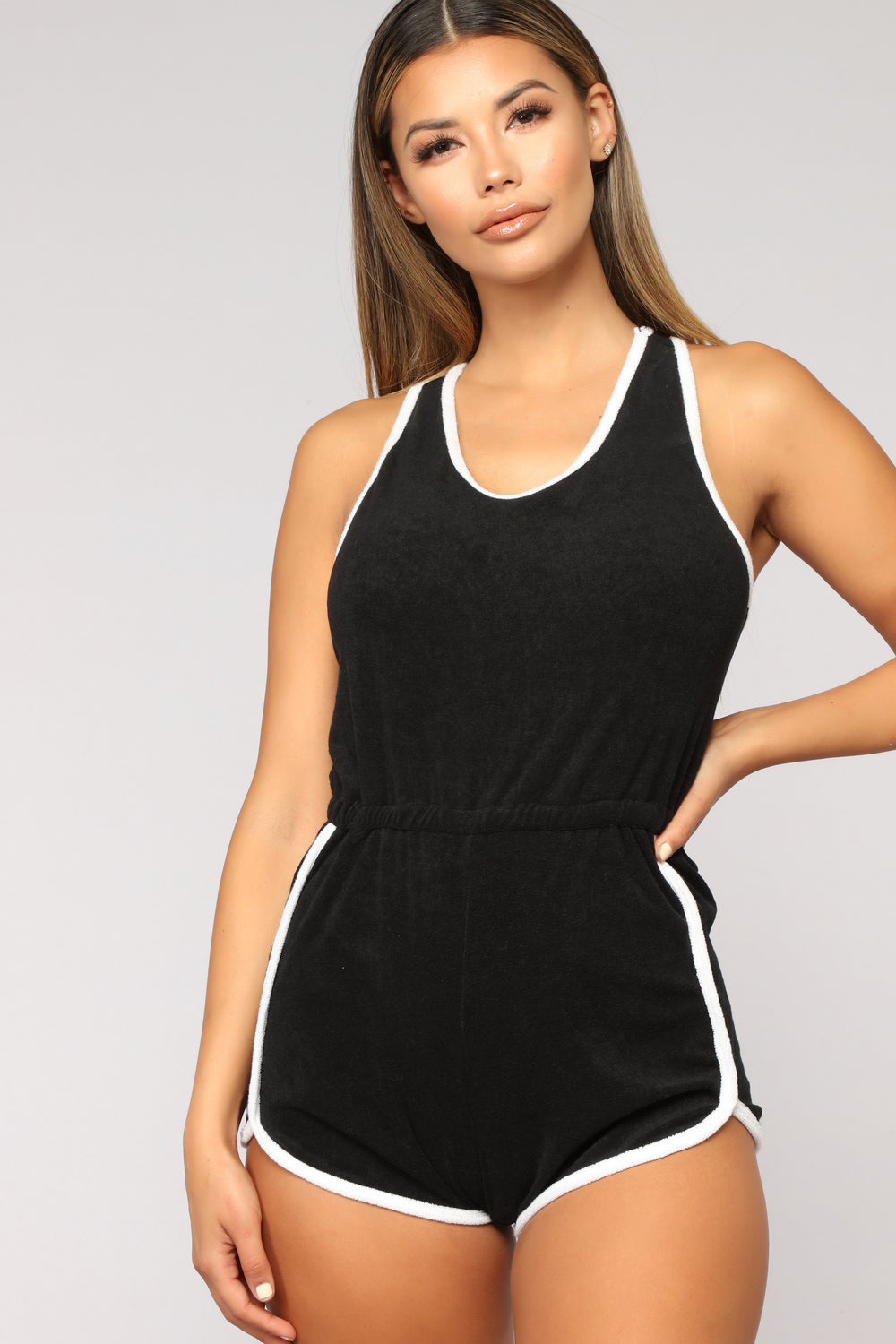 Giana Active Romper - Black