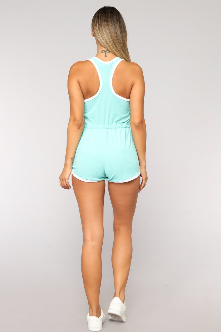 Giana Active Romper - Blue